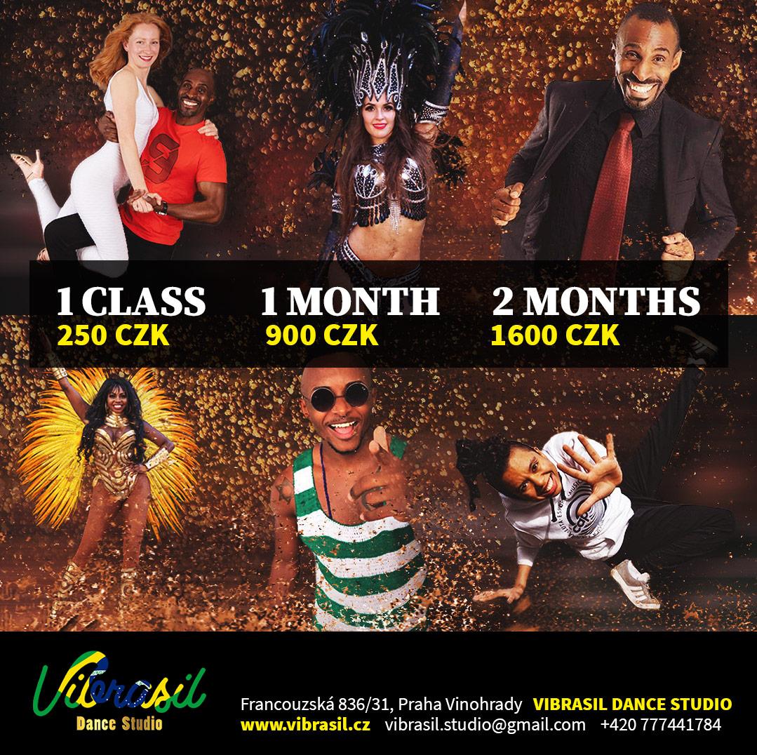 Dance studio pricelist